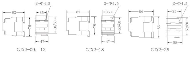 供远距离接通与分断电路及频繁起动,控制交流电动机,接触器还可以加装